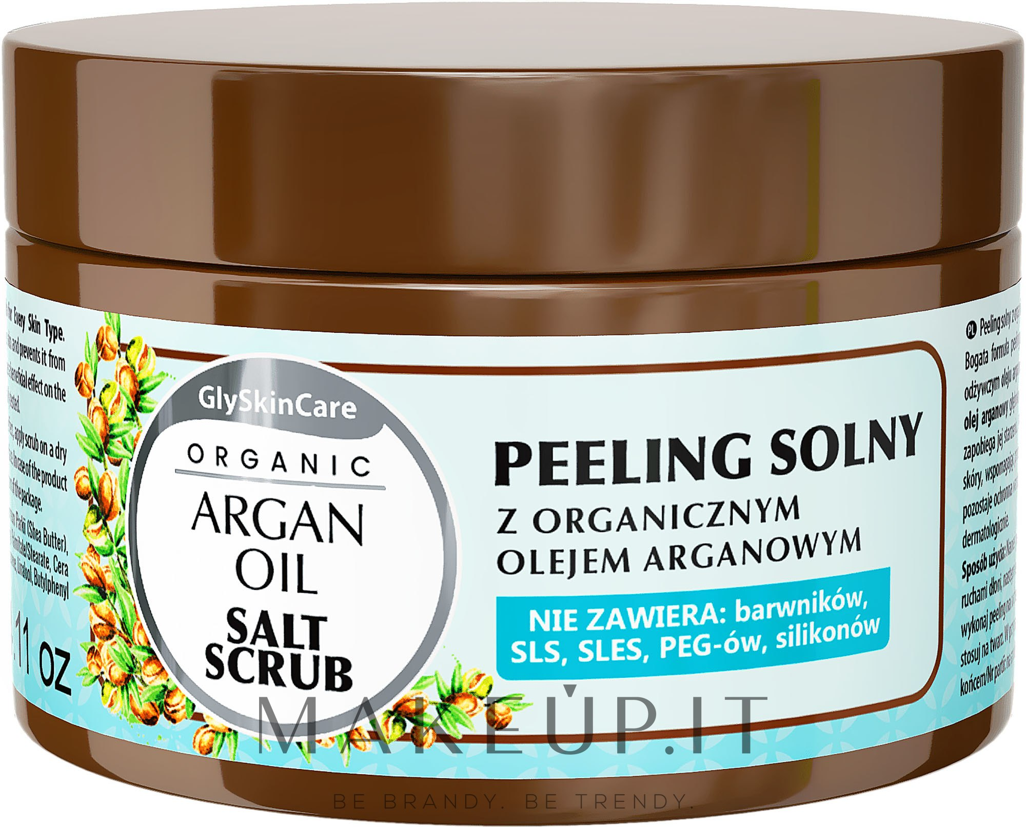 Peeling al sale con olio di argan - GlySkinCare Argan Oil Salt Scrub — foto 400 g