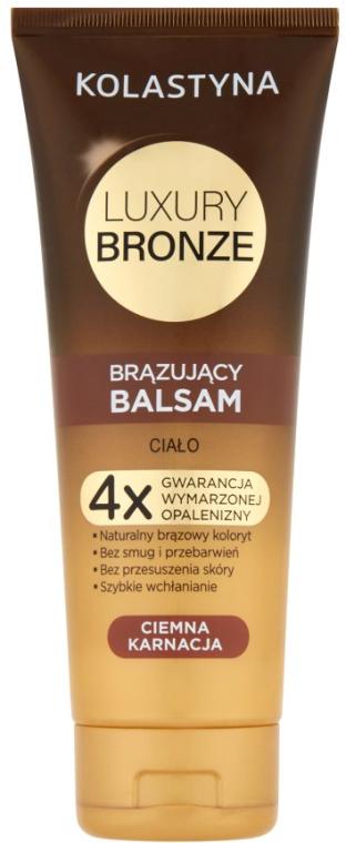 Balsamo abbronzante per la pelle scura - Kolastyna Luxury Bronze Tanning Balm