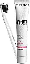 Profumi e cosmetici Set spazzolino+dentifricio Black is White - Curaprox (toothpast/90ml + toothbrush/1pz)