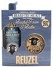 Profumi e cosmetici Set - Reuzel Original Scent Beard Try Me Kit (balm/35g + foam/70ml )