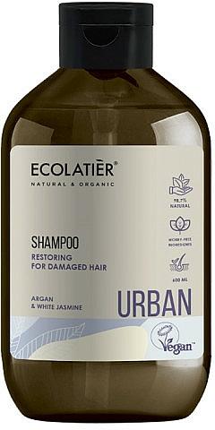 "Shampoo rigenerante per capelli danneggiati ""Argan e gelsomino bianco"" - Ecolatier Urban Restoring Shampoo"