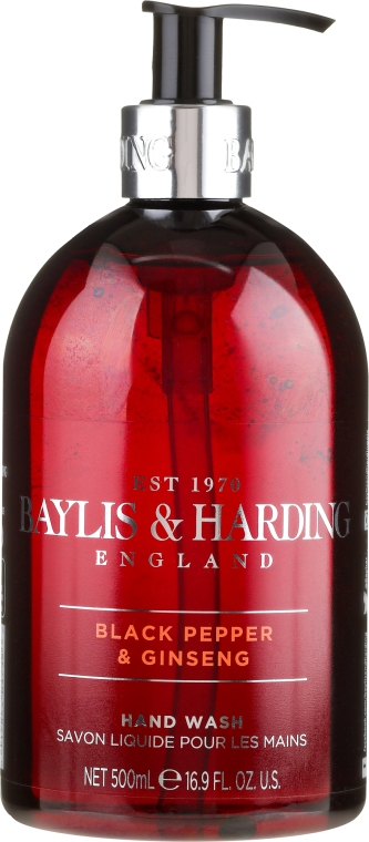 Sapone liquido per le mani - Baylis & Harding Black Pepper & Ginseng Hand Wash