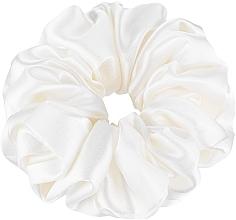 "Profumi e cosmetici Elastico capelli, in seta naturale, bianco, ""Largy"" - Makeup Largy Scrunchie Milk"