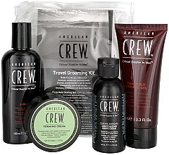 Profumi e cosmetici Set - American Crew Travel Grooming Kit (gel/100 ml + cr/50 g + sh/gel/100 ml+ sh/cr/50 ml)