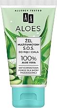 """Profumi e cosmetici Gel multifunzionale all'aloe vera """"S.O.S."""" per mani e corpo - AA Aloes"""