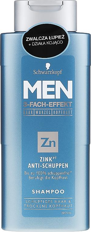 Shampoo anti forfora - Schwarzkopf Men ZinkPT Anti-Schuppen Shampoo