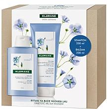 Profumi e cosmetici Set - Klorane Flax Fiber (shm/200ml + cond/200ml)