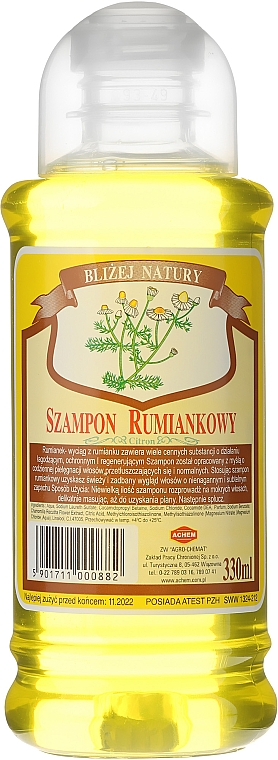 """Shampoo per capelli """"Camomilla"""" - Achem Popular Camomile Shampoo"""