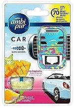 """Profumi e cosmetici Fragranza per auto """"Frutti tropicali"""" - Ambi Pur (freshener/1szt+refill/7ml)"""