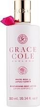 """Profumi e cosmetici Lozione corpo """"Rosa bianca e fiore di loto"""" - Grace Cole White Rose & Lotus Flower Body Lotion"""