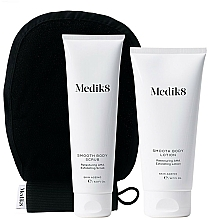 Profumi e cosmetici Set - Medik8 Smooth Body Exfoliating Kit (scr/150ml+lot/200ml+glove)