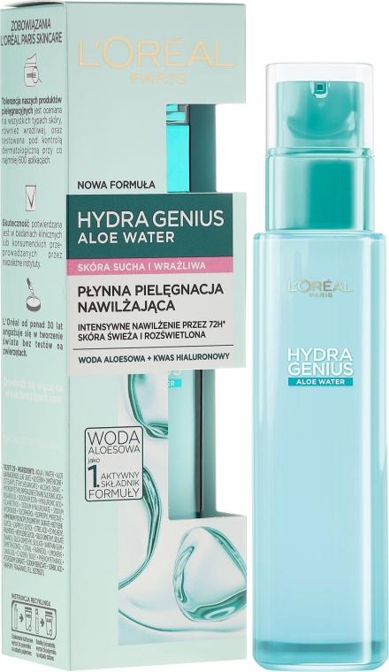 Fluido all'acqua per la pelle secca e sensibile - L'Oreal Paris Hydra Genius Aloe Water