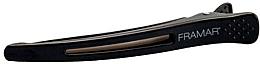 Profumi e cosmetici Fermaglio per capelli con inserto elastico, nero - Framar Elastic Sectioning Hair Clips
