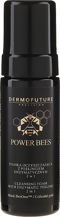 Schiuma detergente con peeling enzimatico 2in1 - Dermofuture Power Bees Cleansing Foam 2in1