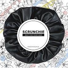 """Profumi e cosmetici Fascia elastica per capelli in eco pelle, nero """"Faux Leather Classic"""" - MakeUp Hair Accessories"""
