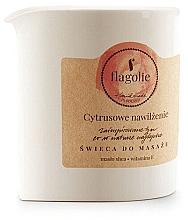 """Profumi e cosmetici Candela da massaggio """"Citrus hydration"""" - Flagolie Citrus Hydration Massage Candle"""