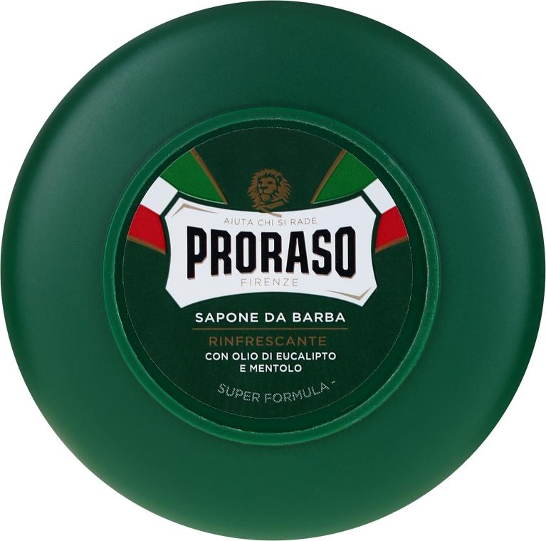 Sapone da barba con olio di eucalipto e mentolo - Proraso Green Shaving Soap