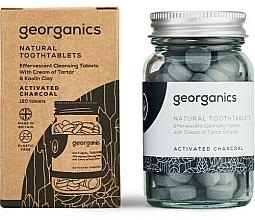 """Profumi e cosmetici Compresse per la pulizia dei denti """"Carbone attivo"""" - Georganics Natural Toothtablets Activated Charcoal"""