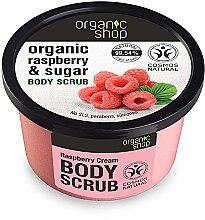 """Profumi e cosmetici Scrub corpo """"Crema di lamponi"""" - Organic Shop Body Scrub Organic Raspberry & Sugar"""