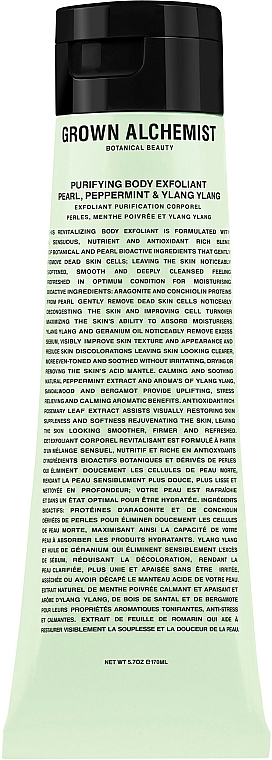 Scrub corpo - Grown Alchemist Purifying Body Exfoliant Pearl, Peppermint & Ylang Ylang — foto N1
