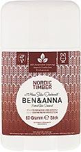 Profumi e cosmetici Deodorante al bicarbonato ''Northern Forest'' - Ben & Anna Natural Soda Deodorant Nordic Timber