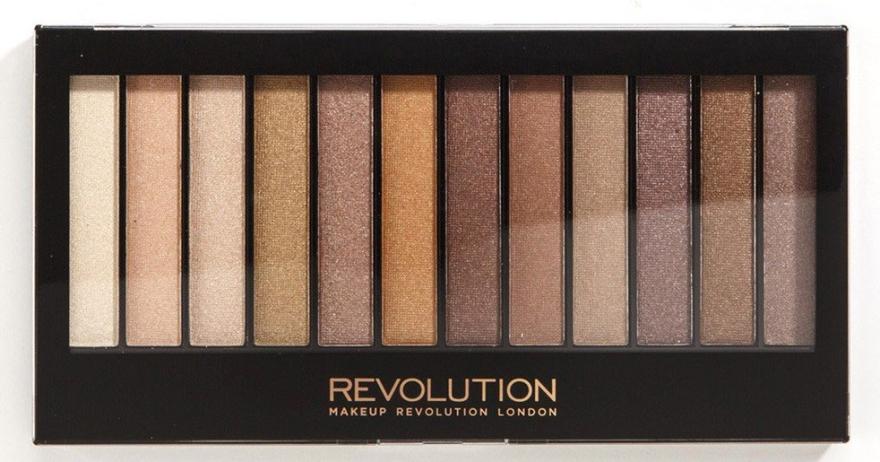 Palette di ombretti, 12 tonalità - Makeup Revolution Redemption Palette Essential Shimmers