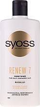 Profumi e cosmetici Balsamo per capelli molto danneggiati - Syoss Renew 7 Water Lily Conditioner For Multi-Damage Hair
