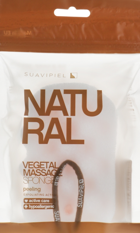 Spugna da bagno massaggiante, cellulosa-poliuretano - Suavipiel Natural Vegetal Massage Sponge