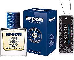 Profumi e cosmetici Deodorante per auto - Areon Luxury Car Perfume Long Lasting Air Freshener Verano Azul