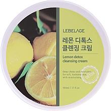 Profumi e cosmetici Crema detergente con estratto di limone - Lebelage Lemon Detox Cleansing Cream