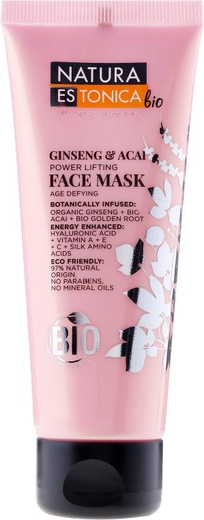 Maschera viso, Ginseng e Asai - Natura Estonica Ginseng & Acai Face Mask