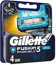 Profumi e cosmetici Lamette di ricambio - Gillette Fusion Proshield Chill