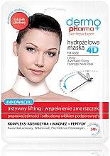 """Profumi e cosmetici Maschera per collo Idrogel 4D """"Sollevamento attivo e riempimento delle rughe"""" - Dermo Pharma 4D Lifting & Wrinkles Filling Hydrogel Neck Mask"""