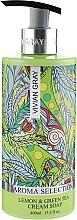"""Profumi e cosmetici Sapone liquido in crema """"Limone e tè verde"""" - Vivian Gray Aroma Selection Lemon & Green Tea Cream Soap"""