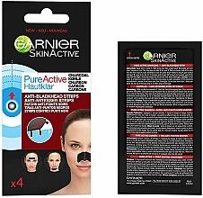 Profumi e cosmetici Strisce per punti neri - Garnier Skin Active Pure Active Anti-Blackhead Charcoal Strips