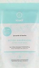 Profumi e cosmetici Detox-maschera per capelli - Khadi Detox Hair Mask