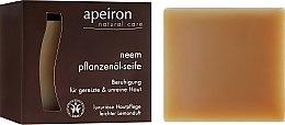 Profumi e cosmetici Sapone naturale al miele indiano per pelli problematiche - Apeiron Neem Plant Oil Soap