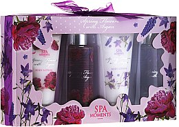 "Profumi e cosmetici Set ""Rosa selvatica e lavanda"" - Spa Moments Wild Rose & Lavanders (sh/g/100ml + sh/g/100ml + b/lot/60ml + b/lot/60ml)"