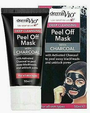 Maschera esfoliante al carbone - Derma V10 Deep Cleansing Peel Off Charcoal Mask — foto N1