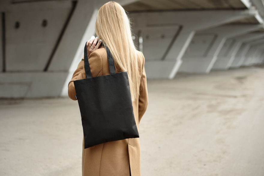 "Borsa shopper, nera ""Springfield"" - MakeUp Eco Friendly Tote Bag Black — foto N2"