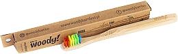 """Profumi e cosmetici Spazzolino da denti per bambini """"Colour"""" in bambù, setole colorate - WoodyBamboo Bamboo Toothbrush Kids Soft/Medium"""