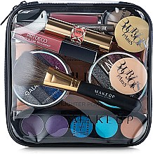 "Profumi e cosmetici Beauty case trasparente ""Visible Bag"" (senza cosmetici) 17x17x6cm - MakeUp"
