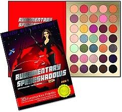 Profumi e cosmetici Palette ombretti, 35 colori - Rude Rudementary Speyeshadows