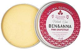 Profumi e cosmetici Deodorante cremoso naturale - Ben & Anna Pink Grapefruit Soda Cream Deodorant