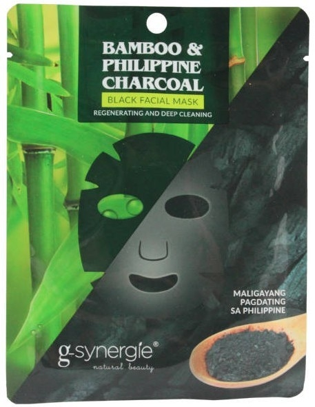Maschera in tessuto - G-synergie Bamboo & Philippine Charcoal Face Mask — foto N1