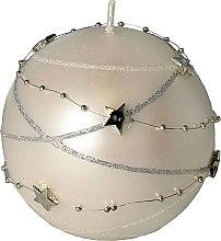 Profumi e cosmetici Candela decorativa bianca, 10x10cm - Artman Christmas Garland