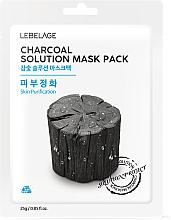 """Profumi e cosmetici Maschera viso in tessuto """"Carbone di legno"""" - Lebelage Charcoal Solution Mask"""