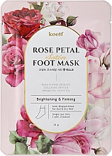 Profumi e cosmetici Maschera piedi rassodante - Petitfee&Koelf Rose Petal Satin Foot Mask