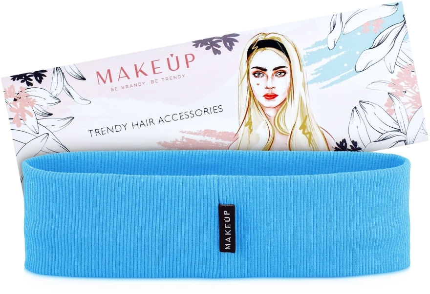 "Fascia capelli, blu ""Be Beauty"" - MakeUp"