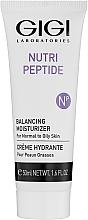 Profumi e cosmetici Crema peptidica per pelli da grasse a miste - Gigi Nutri-Peptide Balancing Moisturizer Oily Skin